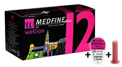 Иглы для шприц-ручки Wellion MEDFINE plus №100 (29G - 12 мм) (Wellion)