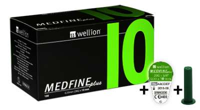 Иглы для шприц-ручки Wellion MEDFINE plus №100 (29G - 10 мм) (Wellion)